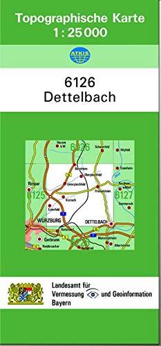 9783860388433: TK25 6126 Dettelbach: Topographische Karte 1:25000