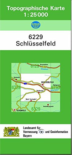 9783860388570: TK25 6229 Schlüsselfeld: Topographische Karte 1:25000