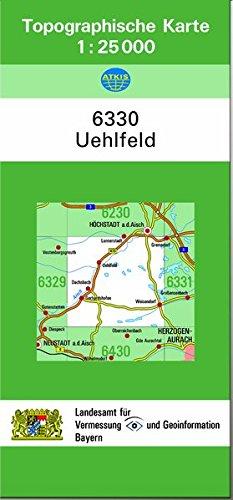9783860388686: TK25 6330 Uehlfeld: Topographische Karte 1:25000