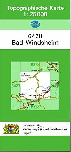 9783860388754: TK25 6428 Bad Windsheim: Topographische Karte 1:25000