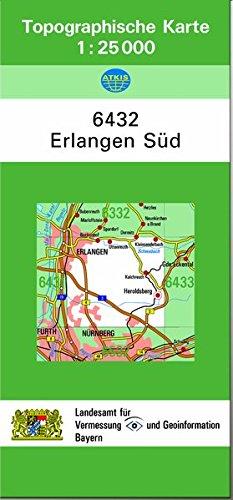 TK25 6432 Erlangen Süd: Topographische Karte 1:25000