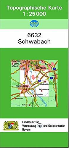 9783860388938: TK25 6632 Schwabach: Topographische Karte 1:25000