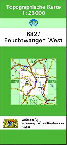 TK25 6827 Feuchtwangen West: Topographische Karte 1:25000