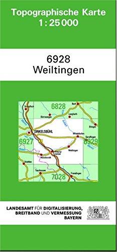 TK25 6928 Weiltingen
