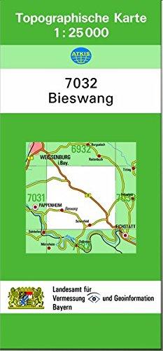9783860389188: TK25 7032 Bieswang: Topographische Karte 1:25000