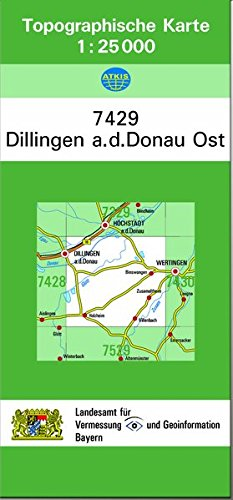 TK25 7429 Dillingen a.d.Donau Ost: Topographische Karte 1:25000