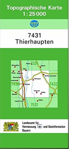 9783860389386: TK25 7431 Thierhaupten: Topographische Karte 1:25000