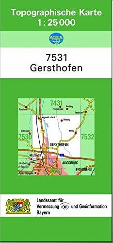 9783860389461: TK25 7531 Gersthofen