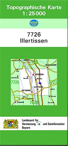 TK25 7726 Illertissen: Topographische Karte 1:25000