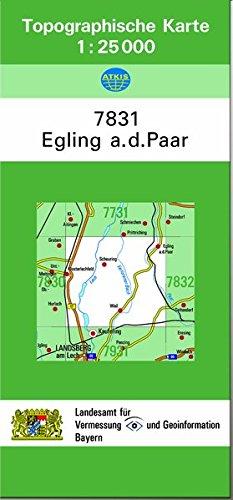 TK25 7831 Egling a.d.Paar: Topographische Karte 1:25000