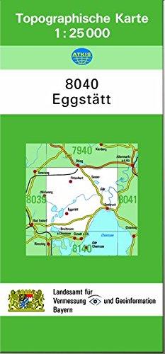 TK25 8040 Eggstätt: Topographische Karte 1:25000
