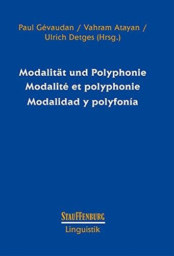 Modalitat und Polyphonie Modalite et polyphonie Modalidad y polyfonia: Paul Gevaudan, Vahram Atayan...