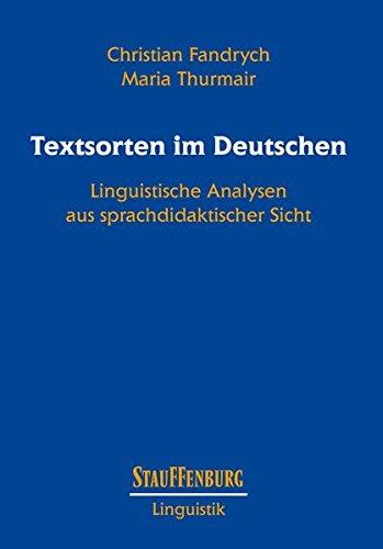 Textsorten im Deutschen: Christian Fandrych