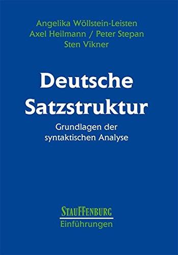 9783860572726: Deutsche Satzstruktur: Grundlagen der syntaktischen Analyse