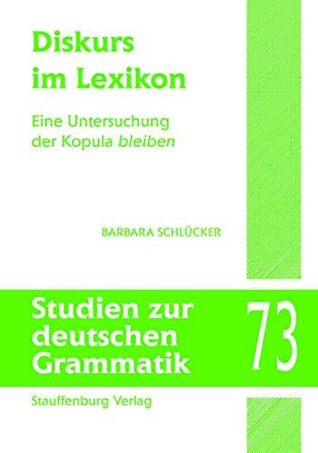 9783860574645: Diskurs im Lexikon: Eine Untersuchung der Kopula