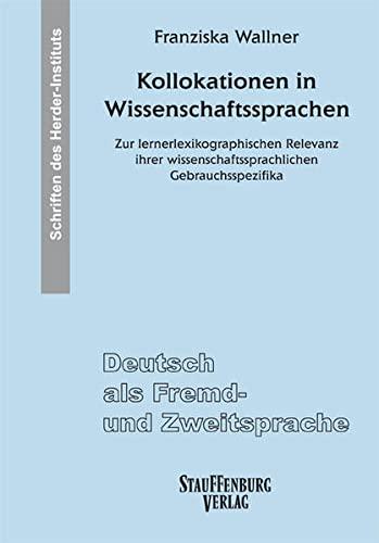Kollokationen in Wissenschaftssprachen: Franziska Wallner
