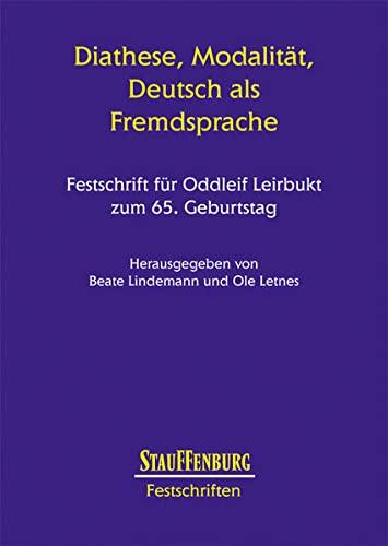 Diathese, Modalität, Deutsch als Fremdsprache.: Ole Letnes