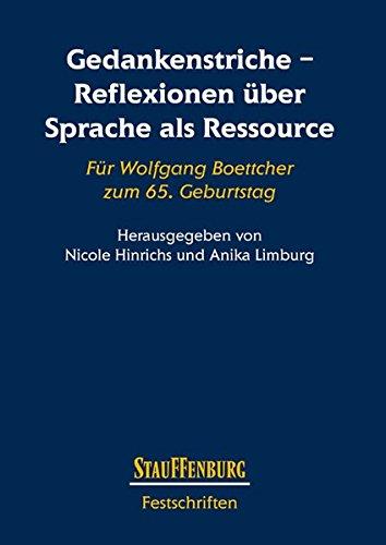 Gedankenstriche - Reflexionen über Sprache als Ressource: Nicole Hinrichs