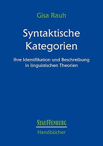 Syntaktische Kategorien: Gisa Rauh