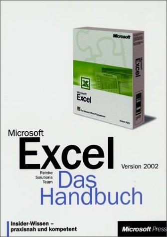 9783860631607: Microsoft Excel 2002, Das Handbuch, m. CD-ROM