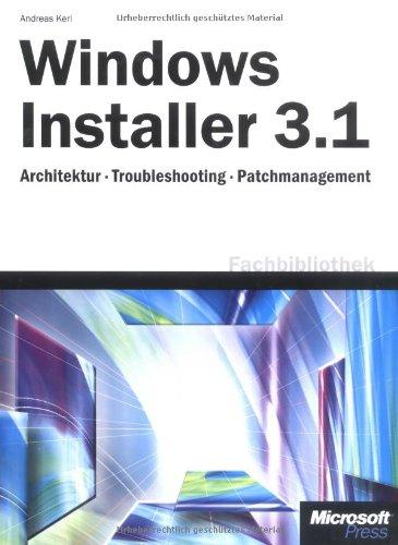 9783860635476: Windows Installer 3.1