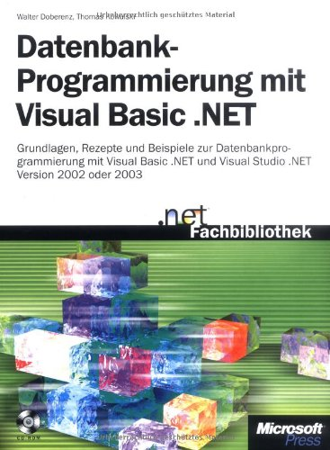 9783860636701: Datenbankprogrammierung mit Visual Basic .NET.