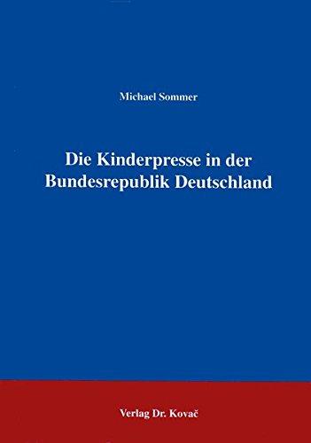 9783860641668 Die Kinderpresse In Der Bundesrepublik Deutschland