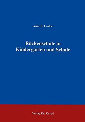 9783860641750: Rückenschule in Kindergarten und Schule . (Livre en allemand)