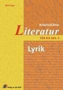 Arbeitsblätter Literatur für die Sek. 1. Lyrik.: Rolf Esser