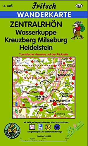Zentralrhön 1 : 35 000 Wanderkarte: Wasserkuppe, Kreuzberg, Milseburg, Heidelstein