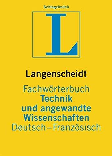 9783861172161: Dictionnaire des Techniques et Sciences Appliqu�es Allemand-Fran�ais