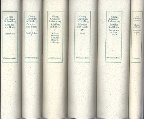 Schriften und Briefe, 6 Bände. Herausgegeben von Wolfgang Promies: Lichtenberg, Georg Christoph