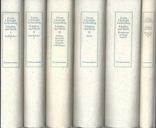 Schriften und Briefe.: Lichtenberg, Georg Christoph: