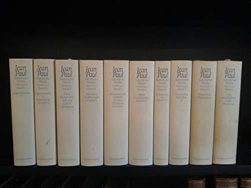 Sämtliche Werke. Herausgegeben von Norbert Miller. 10: Jean Paul (=