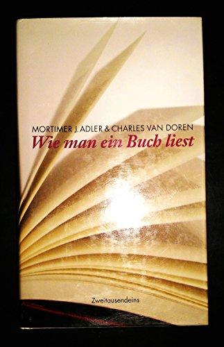 Wie man ein Buch liest (Livre en: Mortimer J Adler