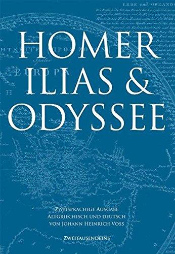 9783861508656: Ilias & Odyssee. Zweisprachige Ausgabe, Altgriechisch und Deutsch