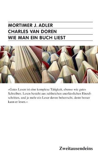 9783861509295: Wie man ein Buch liest.