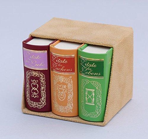 Kassette Zitate (3 Bände): Miniaturbuch Verlagsges.
