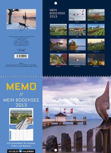 9783861922407: Mein Bodensee 2013 Memo-Kalender