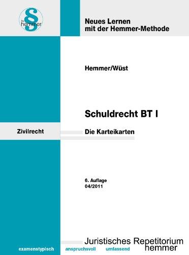 9783861930471: Schuldrecht BT 1. 113 Karteikarten