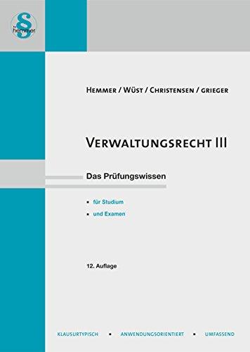 Verwaltungsrecht 3: Karl E. Hemmer