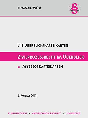 9783861933533: Zivilprozessrecht im Überblick. Assessorkarteikarten