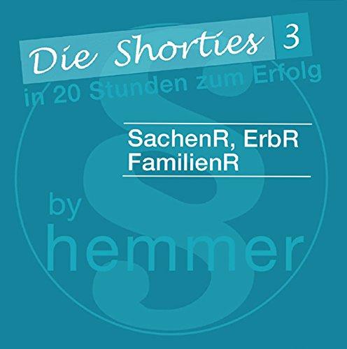9783861934059: Shorties Box 3, SachenR, ErbR, FamR. Minikarteikarten: In 20 Stunden zum Erfolg.