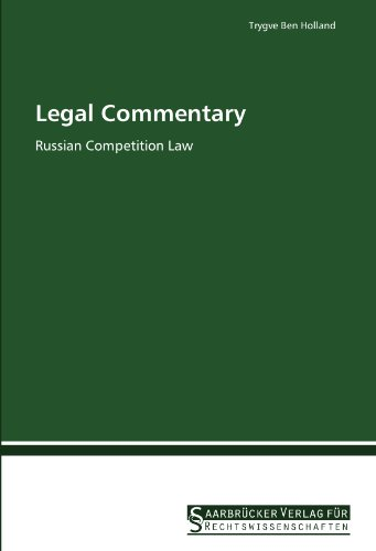 9783861941033: Legal Commentary: Russian Competition Law