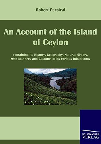 9783861954606: An Account of the Island of Ceylon