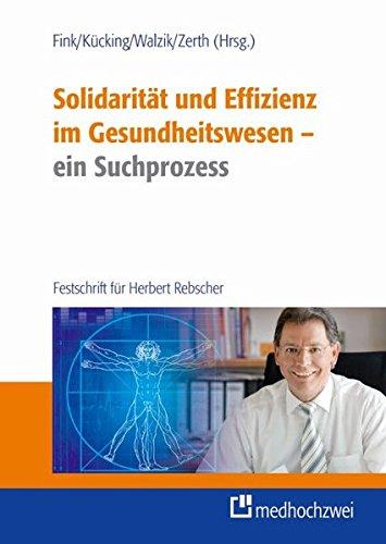 Solidarität und Effizienz - ein Suchprozess: Ulf Fink