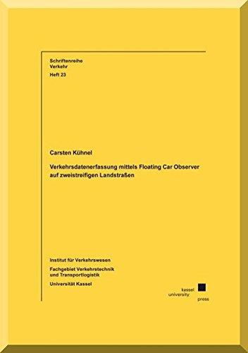 9783862194186: Verkehrsdatenerfassung mittels Floating Car Observer auf zweistreifigen Landstraßen