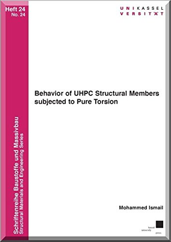 9783862199525: Behavior of Uhpc Structural Members Subjected to Pure Torsion
