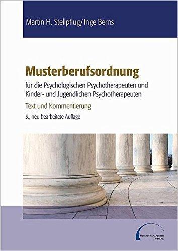 Musterberufsordnung für die psychologischen Psychotherapeuten und Kinder- und ...