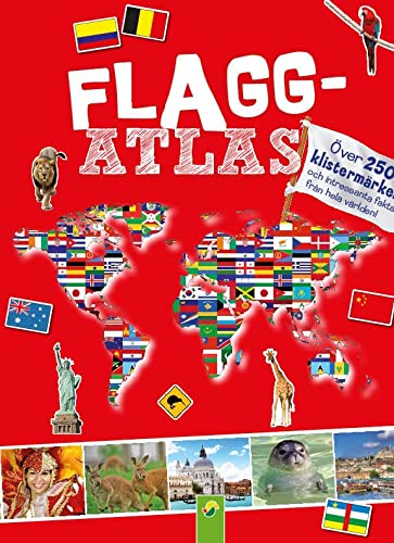 Flaggenatlas mit Stickern: Imported by Yulo inc.